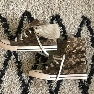 Fold over Coach sneaker